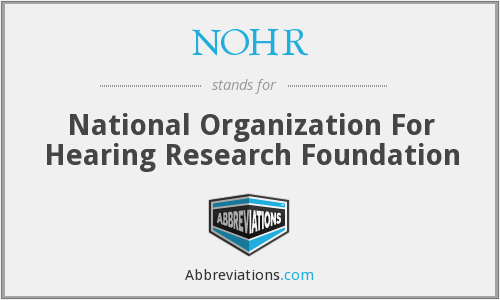 What does NOHR stand for?