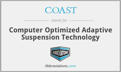 COAST - Computer Optimized Adaptive Suspension Technology
