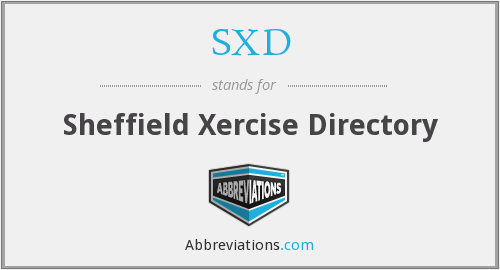 SXD - Sheffield Xercise Directory