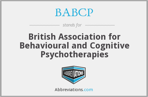 BABCP - British Association for Behavioural and Cognitive Psychotherapies