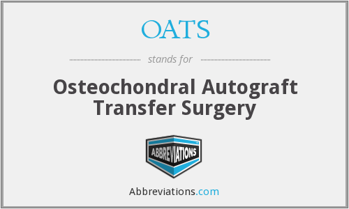 OATS - Osteochondral Autograft Transfer Surgery