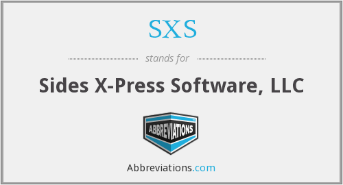 SXS - Sides X-Press Software, LLC