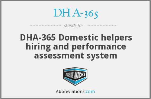 What does DHA-365 stand for?