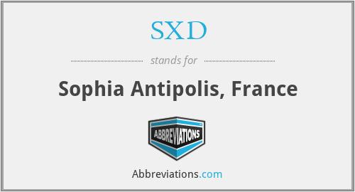 SXD - Sophia Antipolis, France