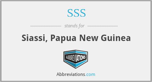 SSS - Siassi, Papua New Guinea