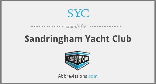 SYC - Sandringham Yacht Club