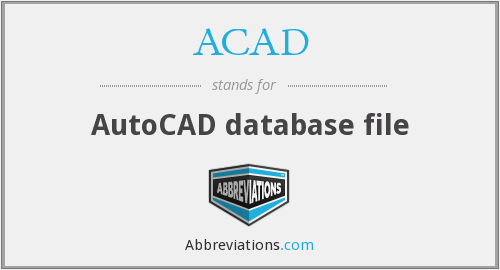 ACAD - AutoCAD database file