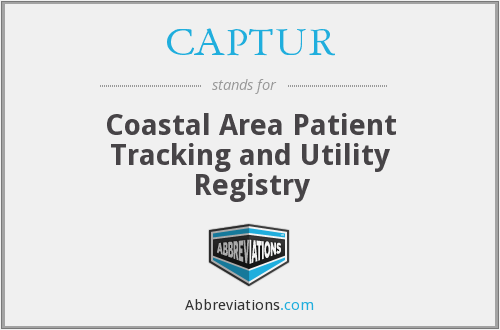 CAPTUR - Coastal Area Patient Tracking and Utility Registry