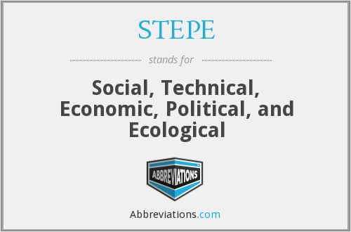 STEPE - Social, Technical, Economic, Political, and Ecological