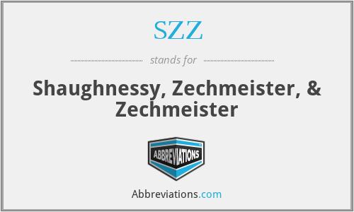 SZZ - Shaughnessy, Zechmeister, & Zechmeister