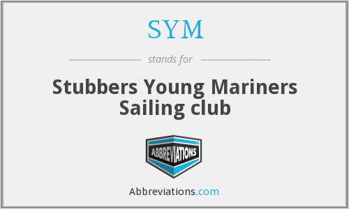 SYM - Stubbers Young Mariners Sailing club