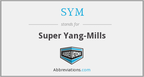 SYM - Super Yang-Mills