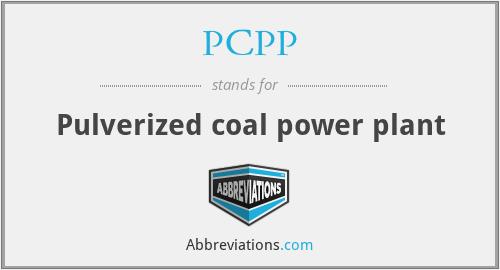 PCPP - Pulverized coal power plant
