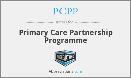 PCPP - Primary Care Partnership Programme