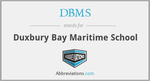 DBMS - Duxbury Bay Maritime School
