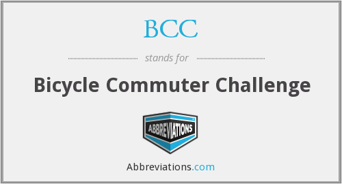 BCC - Bicycle Commuter Challenge