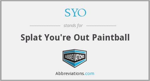 SYO - Splat You're Out Paintball