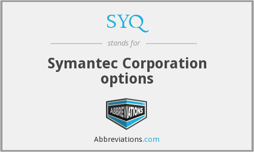 SYQ - Symantec Corporation options