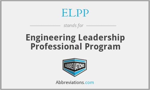 ELPP - Engineering Leadership Professional Program
