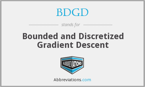 BDGD - Bounded and Discretized Gradient Descent