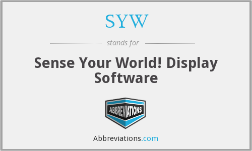 SYW - Sense Your World! Display Software