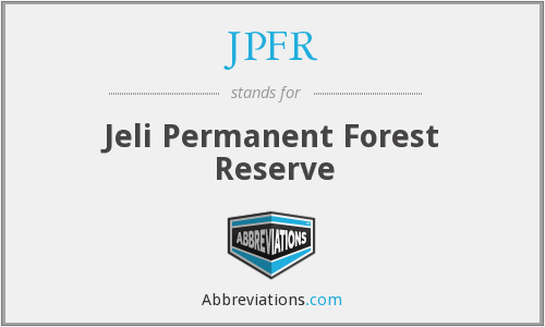 What does JPFR stand for?