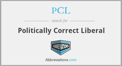 PCL - Politically Correct Liberal