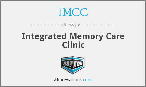 IMCC - Integrated Memory Care Clinic