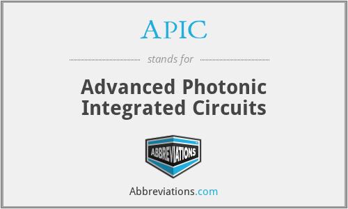 APIC - Advanced Photonic Integrated Circuits