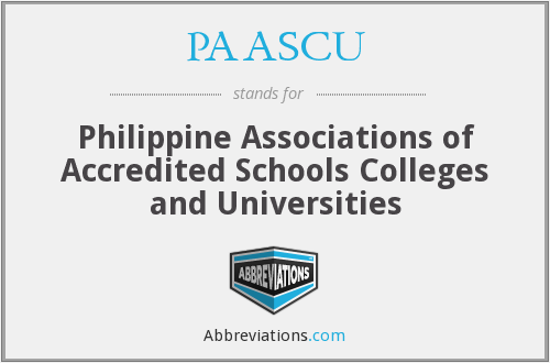 What does PAASCU stand for?