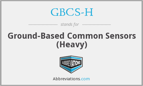 What does GBCS-H stand for?