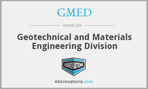 What does GMED stand for?