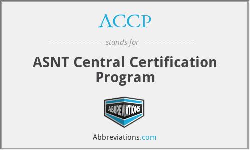 ACCP - ASNT Central Certification Program