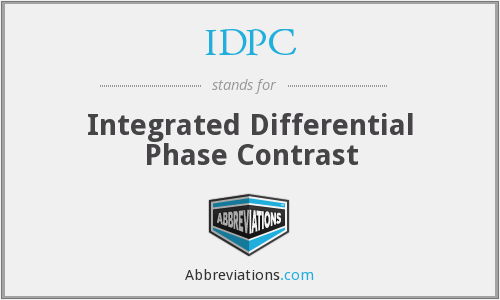IDPC - Integrated Differential Phase Contrast
