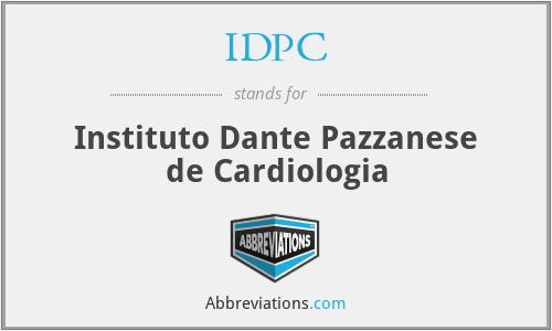 IDPC - Instituto Dante Pazzanese de Cardiologia