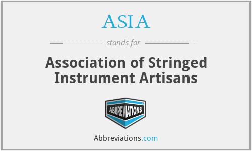 ASIA - Association of Stringed Instrument Artisans