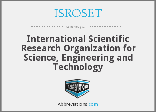 What does ISROSET stand for?