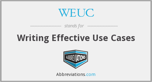 What does WEUC stand for?