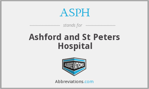 ASPH - Ashford and St Peters Hospital
