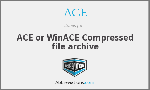 ACE - ACE or WinACE Compressed file archive