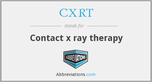 CXRT - Contact x ray therapy