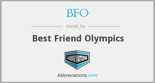 BFO - Best Friend Olympics