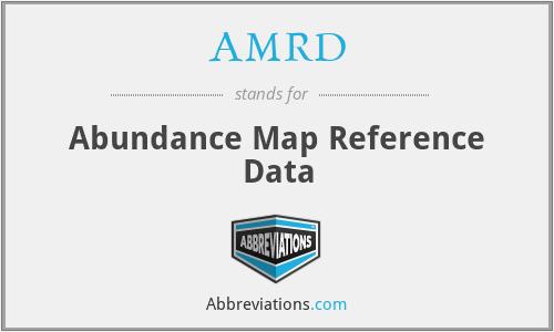 AMRD - Abundance Map Reference Data