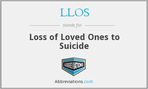LLOS - Loss of Loved Ones to Suicide