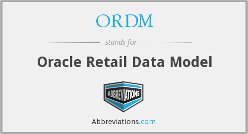 ORDM - Oracle Retail Data Model