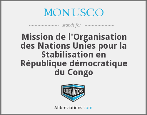 What does MONUSCO stand for?