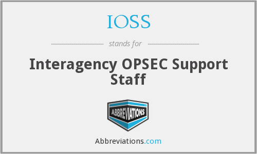 What does IOSS stand for?