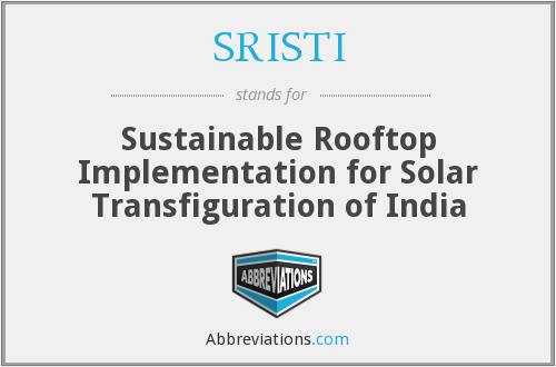 What does SRISTI stand for?