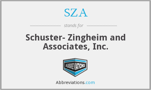 SZA - Schuster- Zingheim and Associates, Inc.