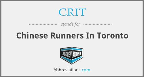 CRIT - Chinese Runners In Toronto